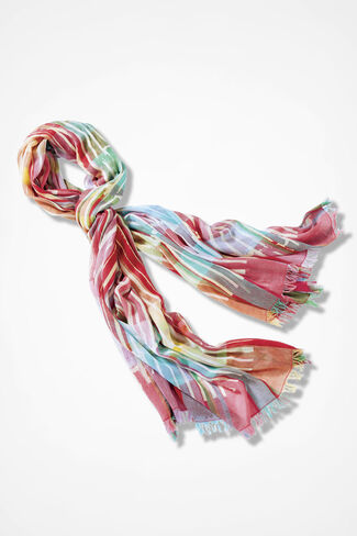Broken Stripes Scarf, Pink Multi, large