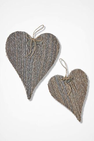 Twig Heart Art, Brown, large