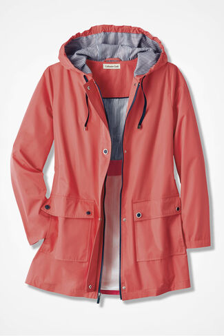 Cloud Chaser Rain Jacket, Rich Coral, large