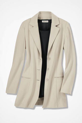 New Ponte Perfect® Boyfriend Jacket, Alabaster, large