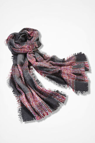 Skyline Blanket Scarf, Grey, large