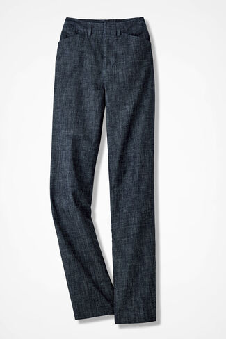 The Chambray Gallery Pant, Dark Wash, large