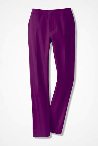 CottonLuxe® Ankle Pants, Vienna Currant, large