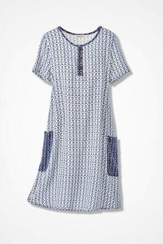 Riverwalk Tencel® Dress, White, large