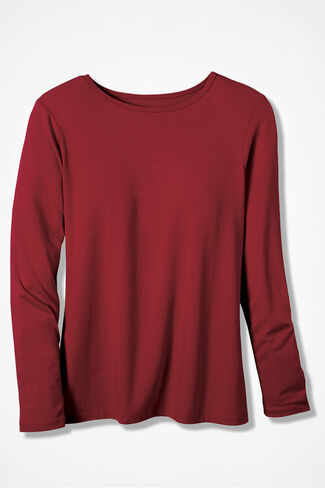 PrimaKnit® Crewneck Tee, Dover Red, large