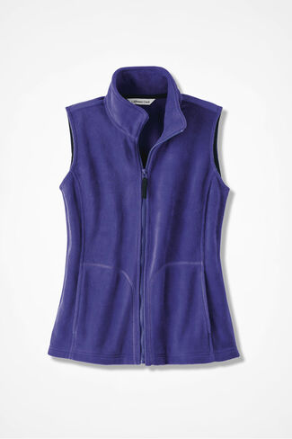 Great Outdoors Fleece Vest, Ultra Violet, large