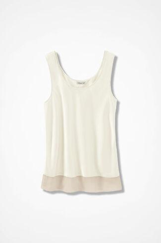 Matte/Shine Camisole, Ivory, large