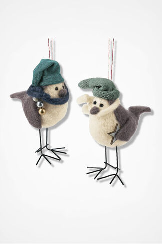 Winter-On-The-Wing Ornaments, Grey, large