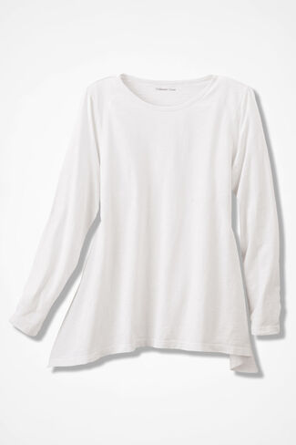 At Ease Swing Tunic, White, large
