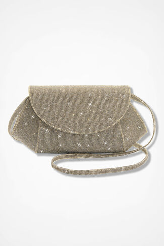 Glimmer-Weave Evening Bag, Platino, large