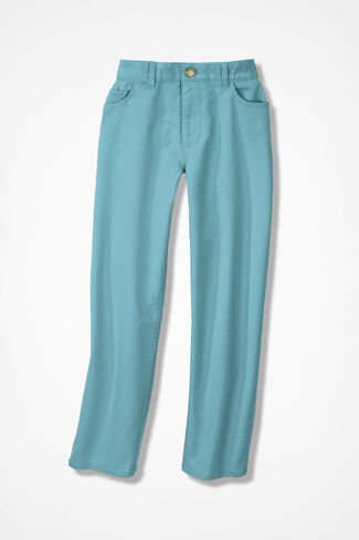 Washed CottonLuxe® Crops, Dusty Aqua, large