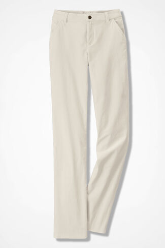 Velveteen Pants, Antique White, large