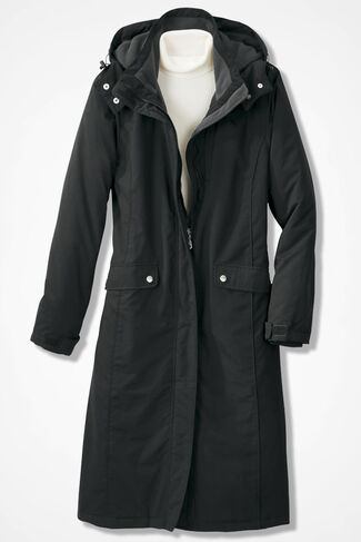 Stormy Skies Fleece-Lined Coat, Black, large