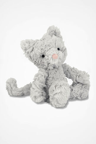 Squiggle Kitty, Grey, large