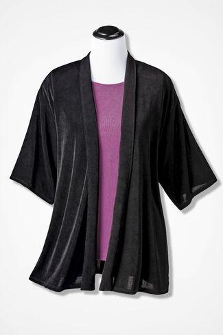 Destinations Kimono Jacket, Black, large