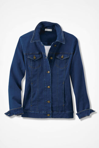 NEW Denim Jacket, Medium Wash, large