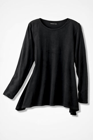 At Ease Swing Tunic, Black, large