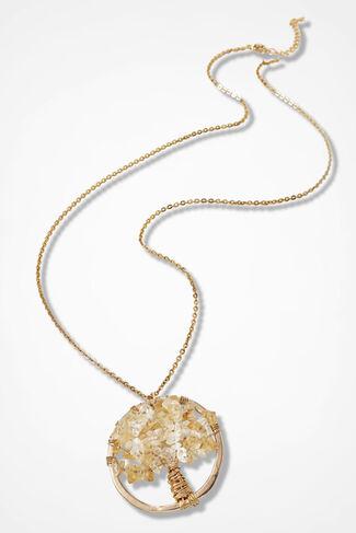 Treasured Tree Necklace, Gold, large