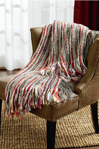 Soft-n-Nubby Fireside Throw, Grey, large