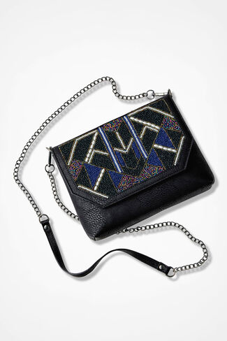 Deco Glimmer Bag, Black, large