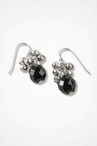 Tonal Cascade Earrings, Black, large