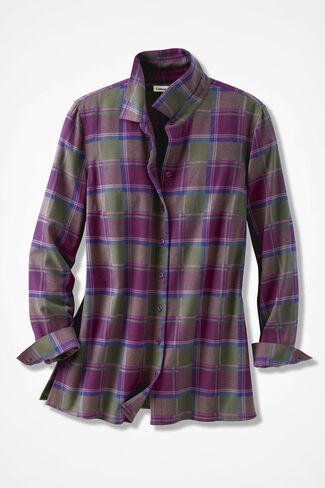 Northcountry Flannel Shirt, Cypress, large