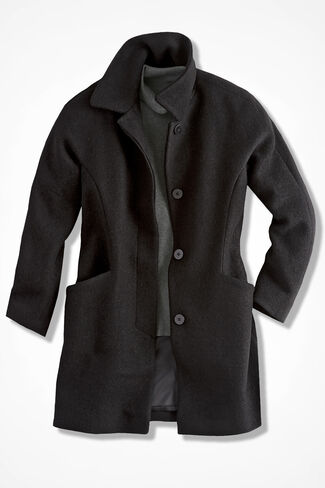 Town & Country Coat, Black, large