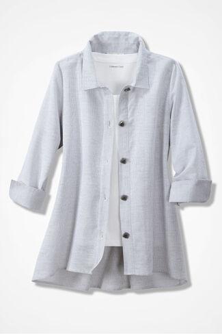 Weekend Wanderer Shirt Jacket, Grey, large