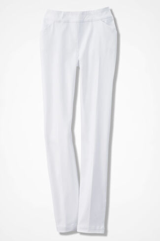 ShapeMe® Day-to-Dinner Ankle Pants, White, large