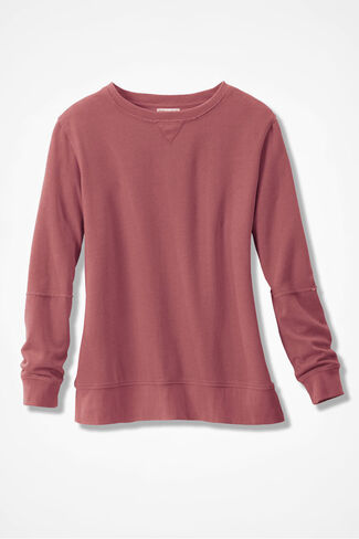 Colorwashed Fleece Pullover, Canyon Rose, large