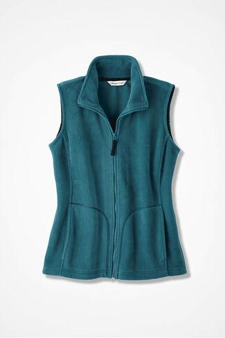 Great Outdoors Fleece Vest, Teal, large