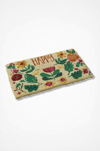 Happy Spring Doormat, Natural, large