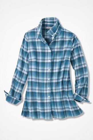 Northcountry Flannel Shirt, Robins Egg, large