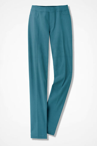 Pull-On Day-to-Dinner Pants, Cerulean, large