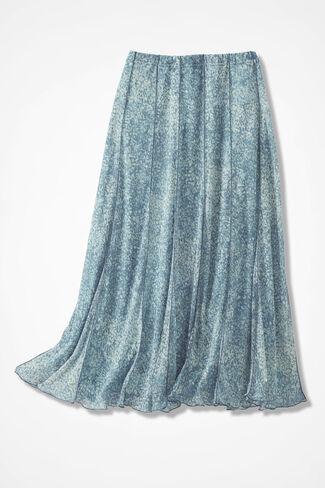 Meadowprint Mesh Knit Skirt, Lagoon, large