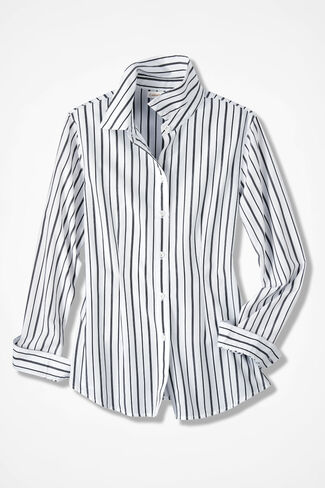 Striped Shirt, White, large