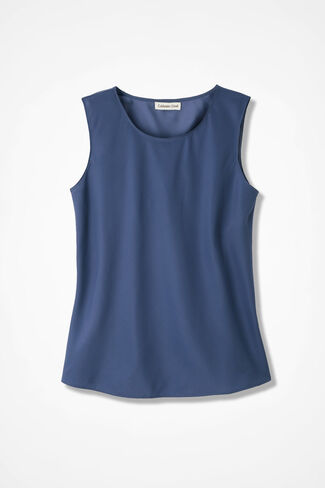 NEW Do-It-All Sleeveless Shell, Ranch Blue, large