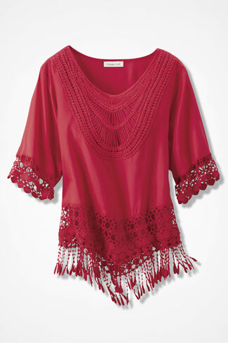 Crochet Olé Top, Salsa Red, large