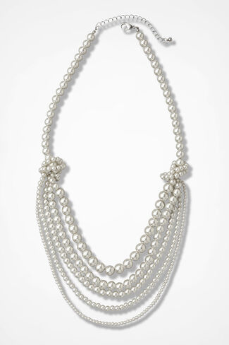 Pearl Allure Necklace, Ivory, large