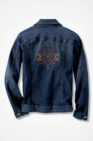 Spirit Santa Fe Denim Jacket, Dark Wash, large