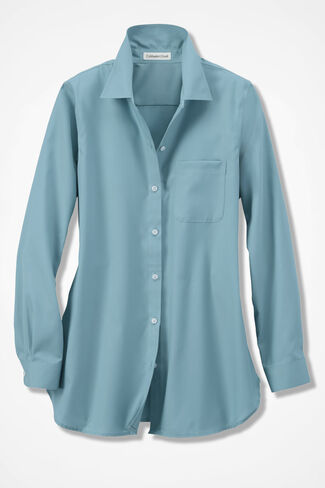 Anytime Easy Care Tunic, Robins Egg, large