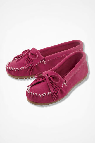 """Kilty"" Moccasins by Minnetonka®, Pink, large"