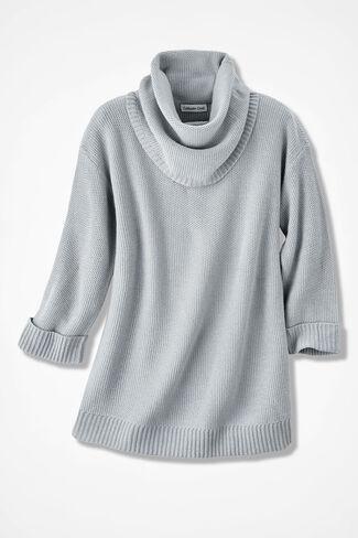 Ultrasoft Cowl Tunic, Dove Grey, large