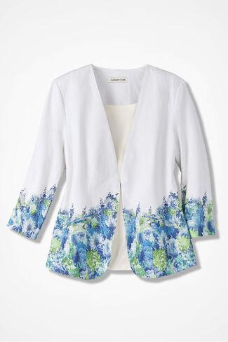 Blue Bouquet Jacket, White Multi, large