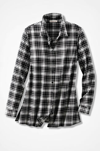 Northcountry Flannel Shirt, Black, large