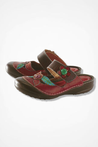 """Gladiolus"" Clogs from L'Artiste, Red, large"