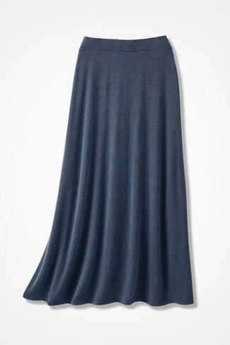 Sweep-n-Swirl Knit Maxi Skirt, Blue Indigo, large