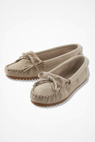 """Kilty"" Moccasins by Minnetonka®, Alabaster, large"