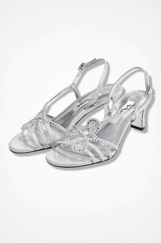 """Garland"" Sandals by Nina, Silver, large"