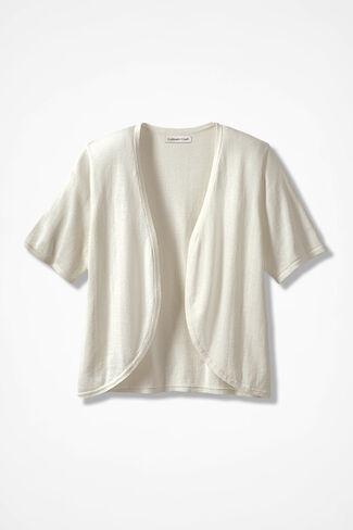 Open-Front Sweater Shrug, Seasalt, large